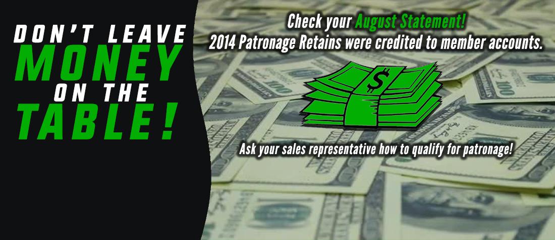 2014 Patronage Retains